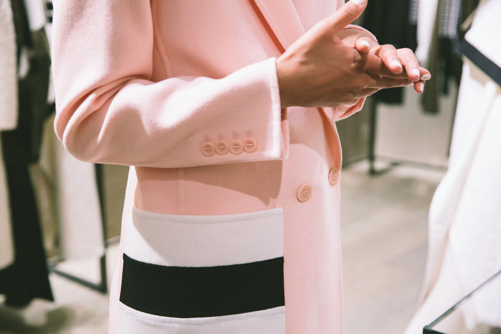 vanessa hong the haute pursuit maxmara pastel pink coat