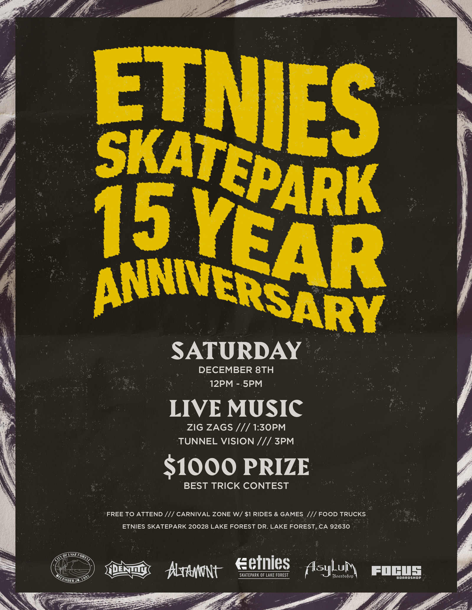 ETNIES SKATEPARK CELEBRATES 15 YEARS NEXT MONTH