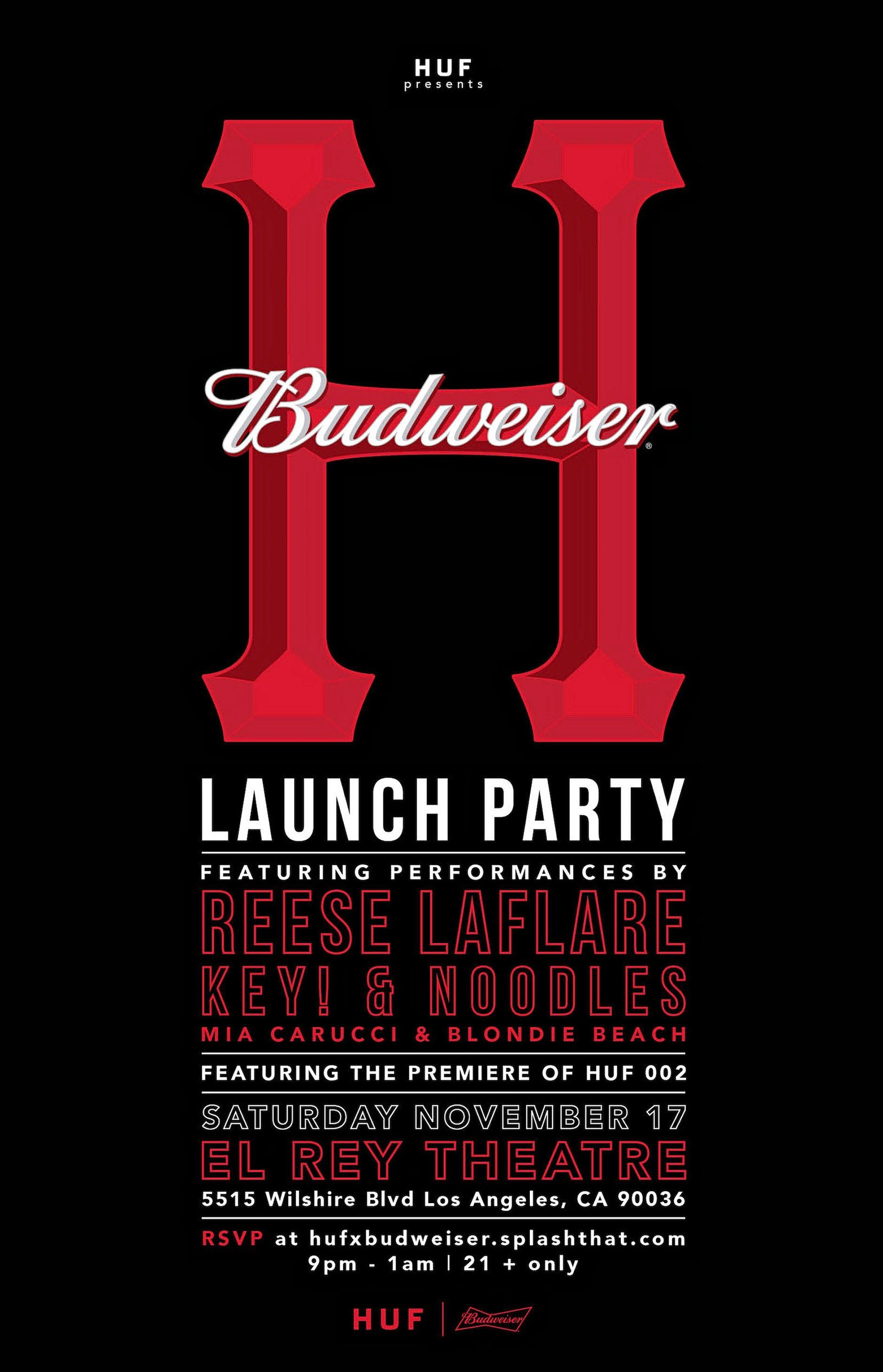 HUF X BUDWEISER COLLABEERATION LAUNCHING NEXT WEEK