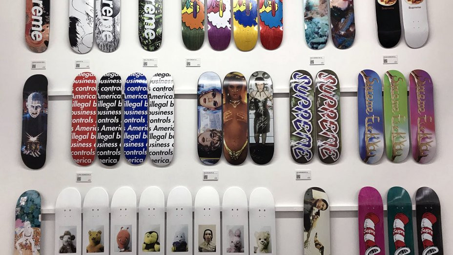 COMPLETE SUPREME DECK COLLECTION ON DISPLAY IN LOS ANGELES
