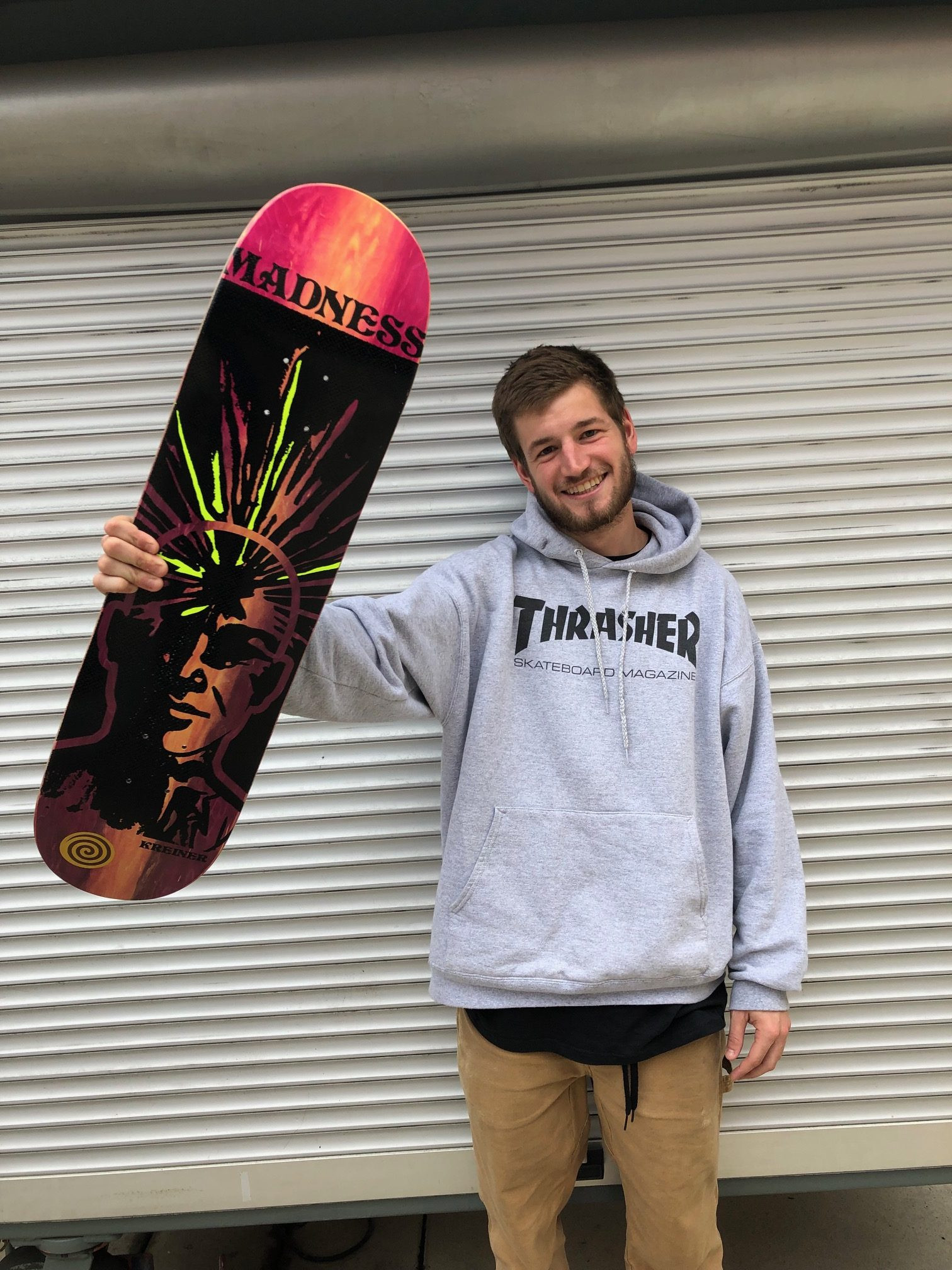 CLAY KREINER NOW PRO FOR MADNESS SKATEBOARDS