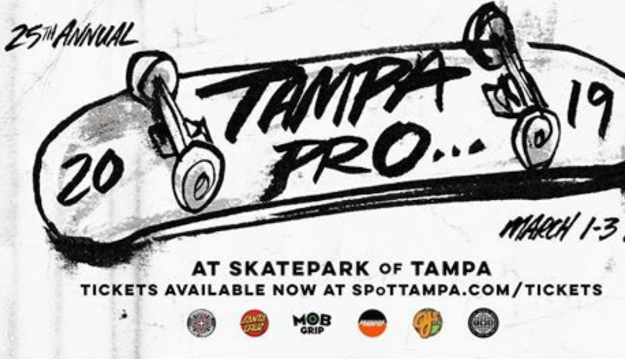 WATCH 25TH ANNIVERSARY TAMPA PRO CONTEST LIVE THIS WEEKEND