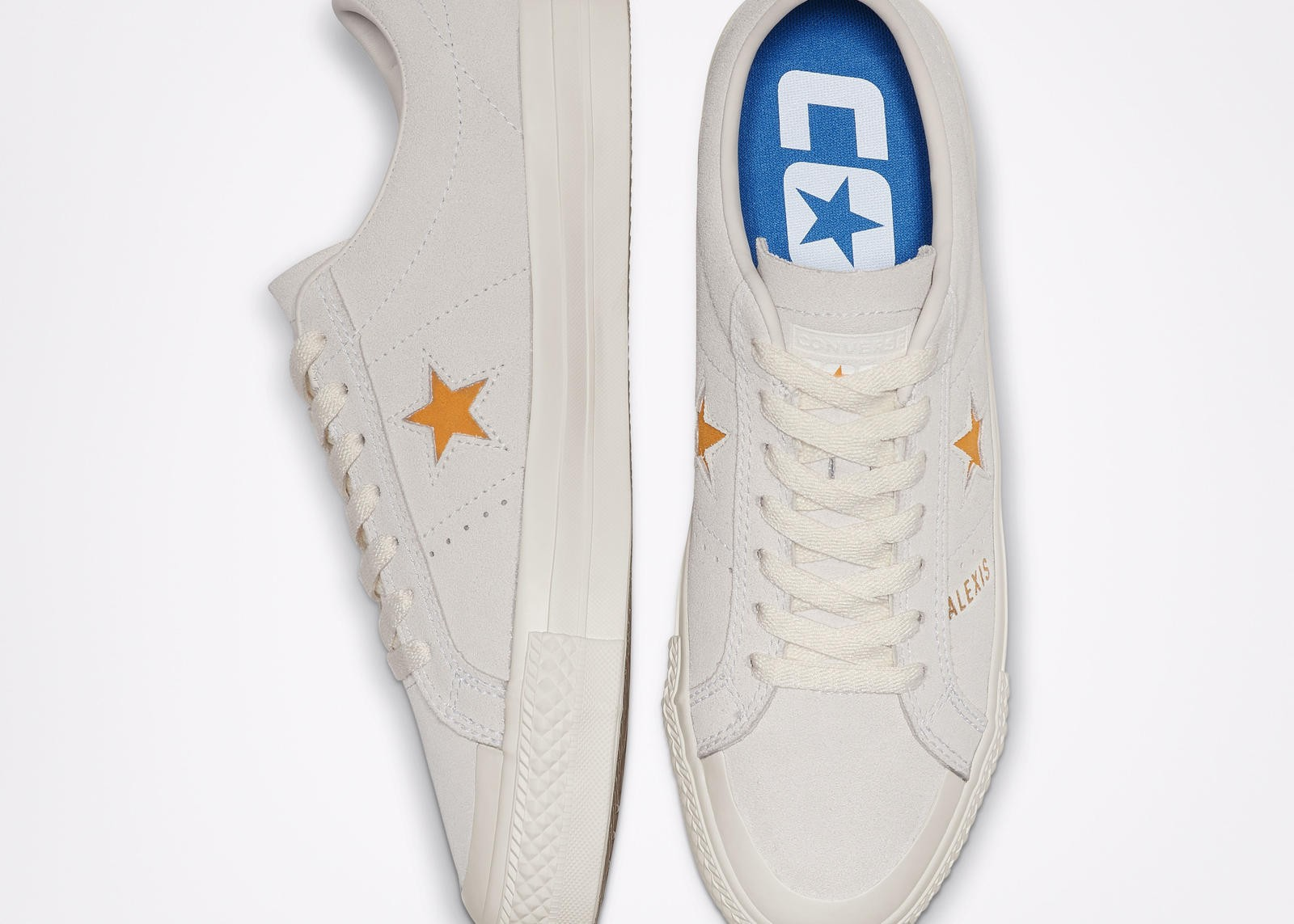 ALEXIS SABLONE'S UNISEX CONS ONE STAR PRO SHOES HAVE HER MARK ALL OVER THEM