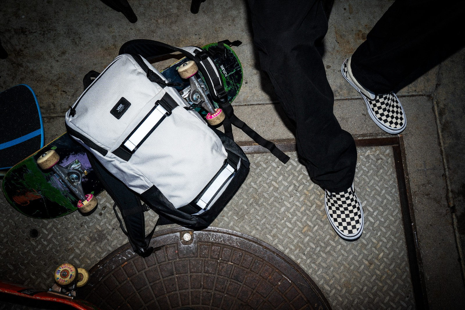 The Vans Reflective Pack is now available worldwide at authorized Vans retailers and Vans.com/skate.