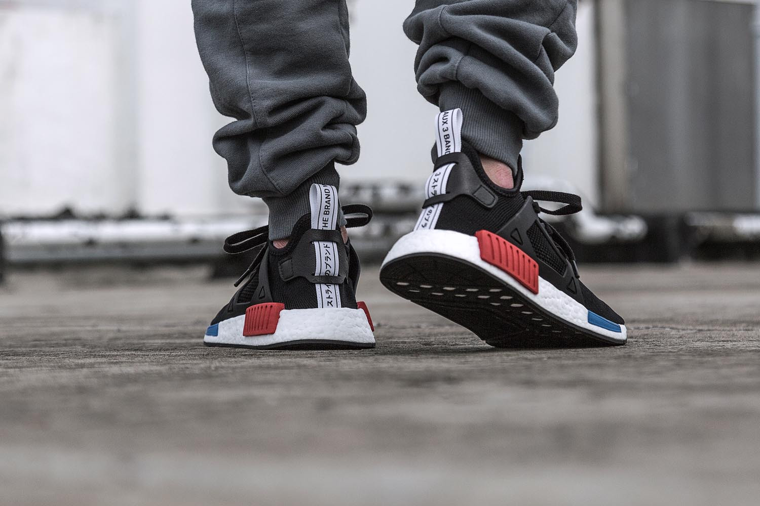 NMD R1 'Gum Pack', NMD XR1 OG, NMD R1 'Glitch Camo' and NMD CS2 'Black/Pink' and 'Grey/Purple'