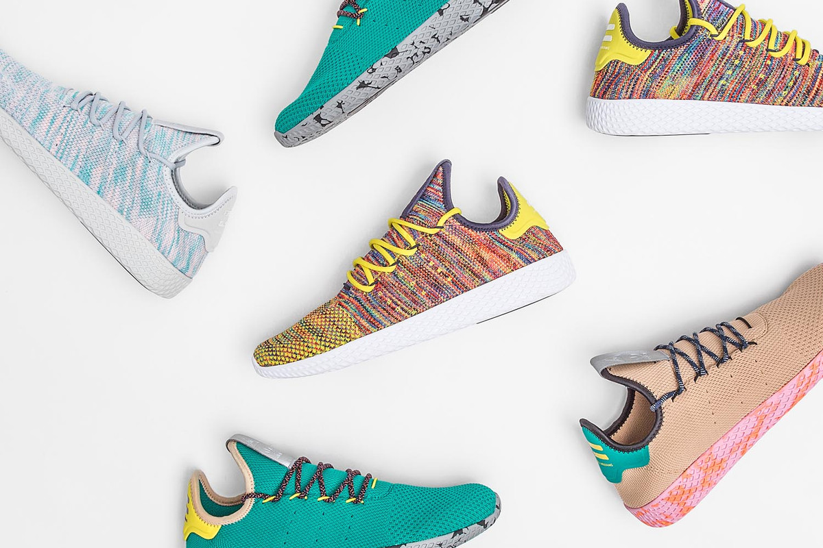 Pharrell Williams x adidas Originals 新鞋款 Tennis Hu 四色登場