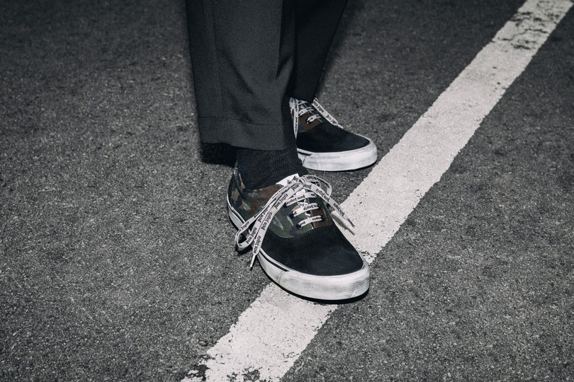 A Closer Look at the Palm Angels Distressed Sneakers Camo.