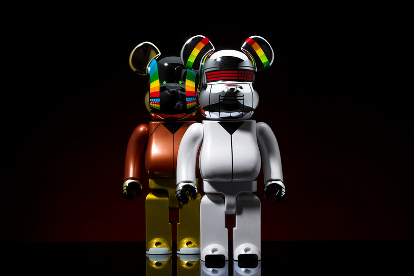 Daft Punk x Medicom Toy 400% BE@RBRICK 套装定番