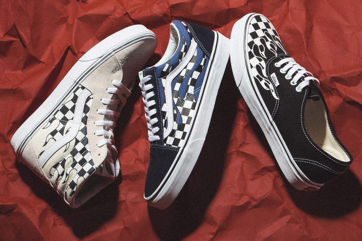 """New Arrivals: Vans """"Checkerboard Flames"""" Pack"""