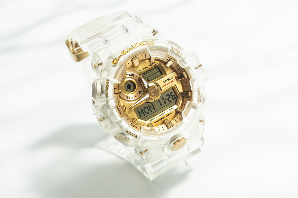 "Coming Soon: Casio G-SHOCK GA-735E ""Glacier Gold"""
