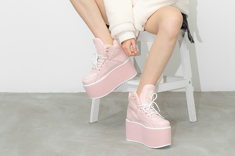 New Arrivals: Buffalo London Baby Pink High Tower & Powder Blue Classic Low-top