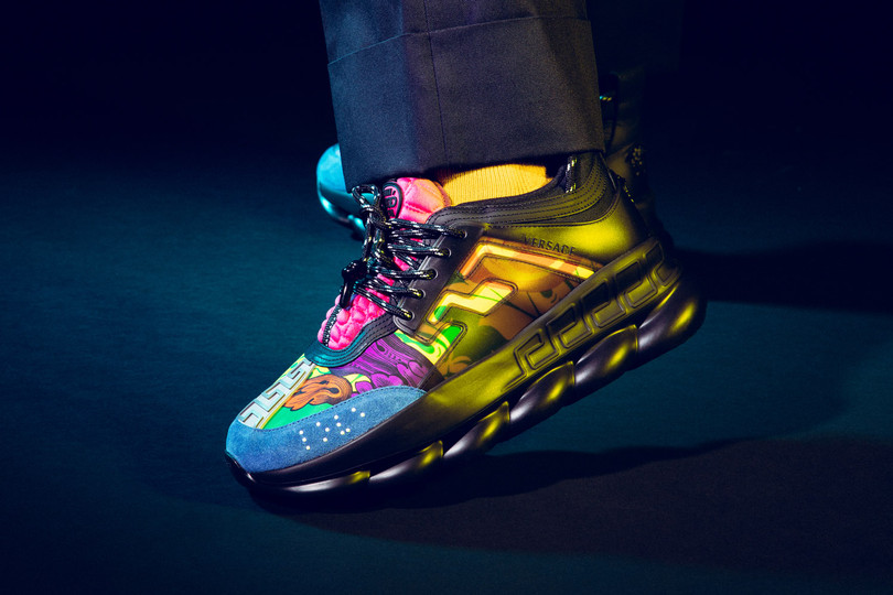 Highlights: Versace Multicolor Chain Reaction Sneakers