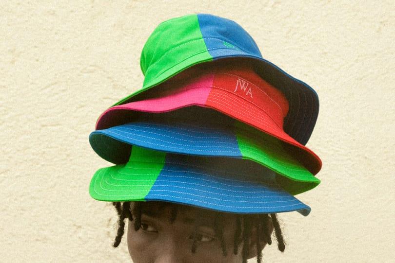 HBX Exclusive: JW Anderson Colorblocked Bucket Hats