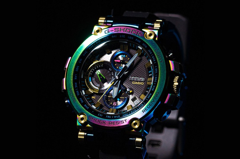 "Coming Soon: Casio G-SHOCK MTGB1000RB-2A ""Rainbow"""