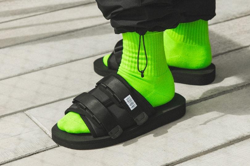 Highlights: Suicoke Black Moto-Cab Slide Sandals