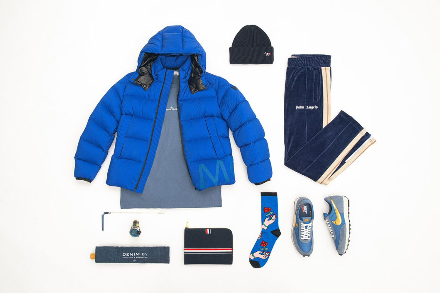 HBX Essentials Mens fashion 2019 Blue Clothing