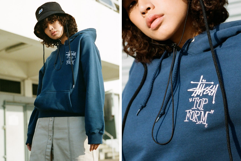 womens fashion winter hoodie stussy hyein seo