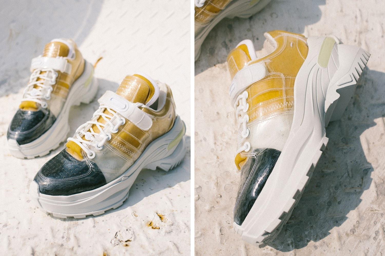 womens chunky sneakers  prada maison margiela