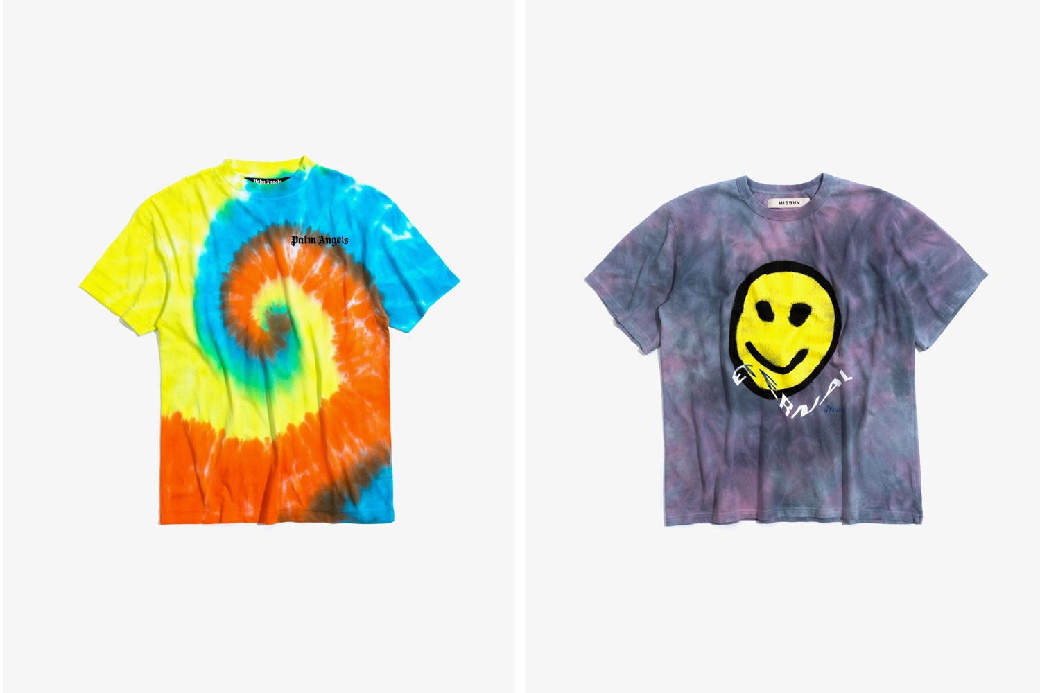 Tie Dye t shirts Aries Moncler Palm Angels Mens