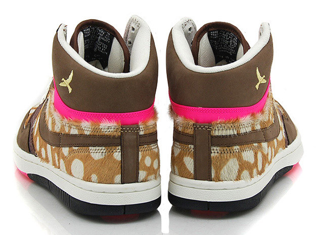 new concept a96d8 cc91b Each sneaker in its brown and pink colorway also includes a spotted animal  fur upper similar to Disney classic spotted deer, Bambi.