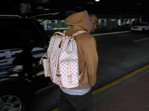d64fb8ee7c35 Kanye West s Custom Louis Vuitton Backpack