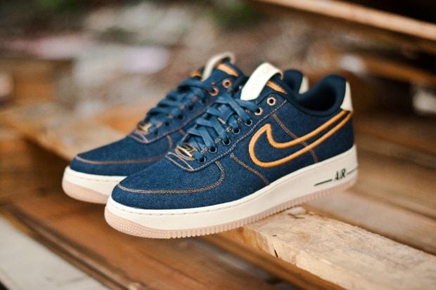 brand new 3939a 5734b Nike Air Force 1 Low Premium Denim   HYPEBEAST