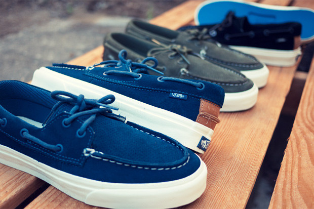 852d2a6207 Vans California releases three new perforated colorways of their popular Zapato  Del Barco for Fall 2011. Each takes on a tonal suede upper