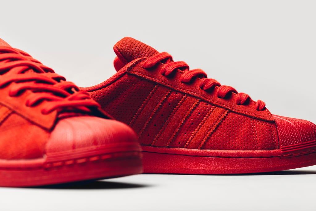 adidas superstar red suede
