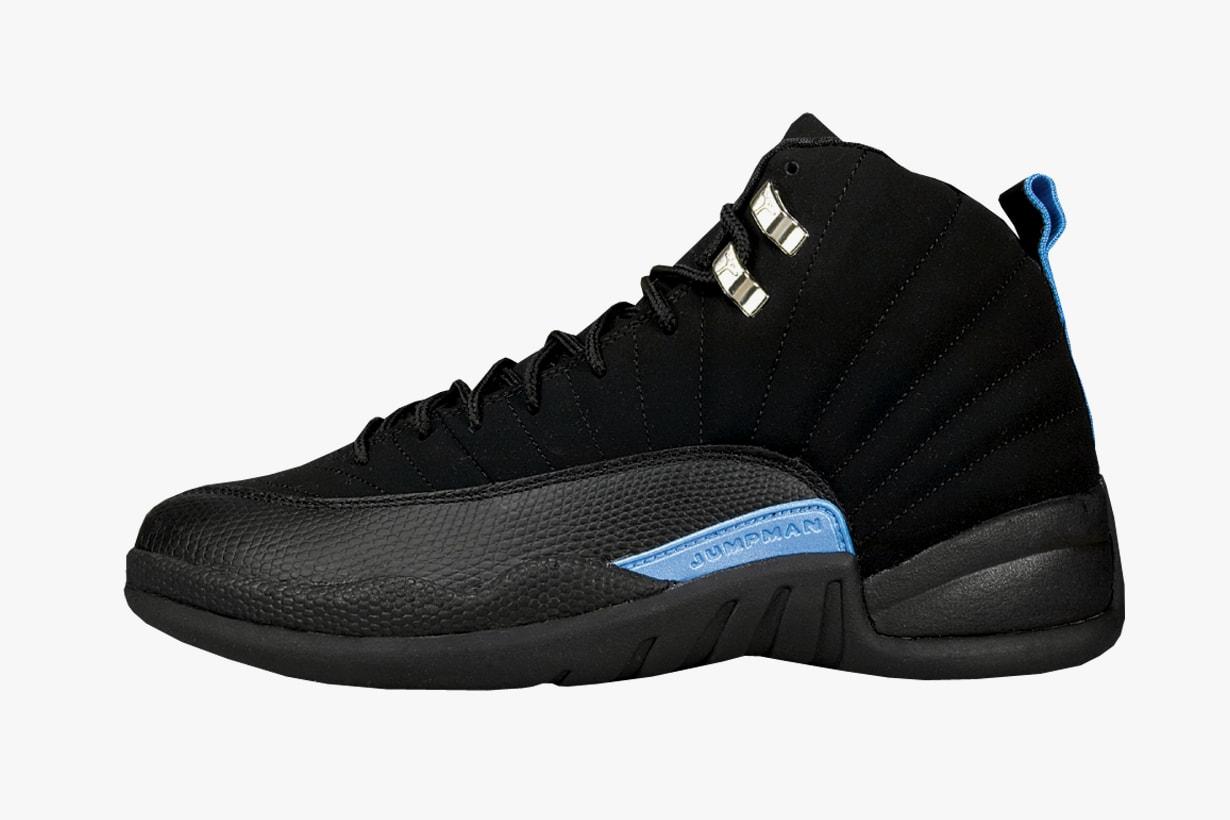 Nike Air Jordan 12 Retro Black White University Blue