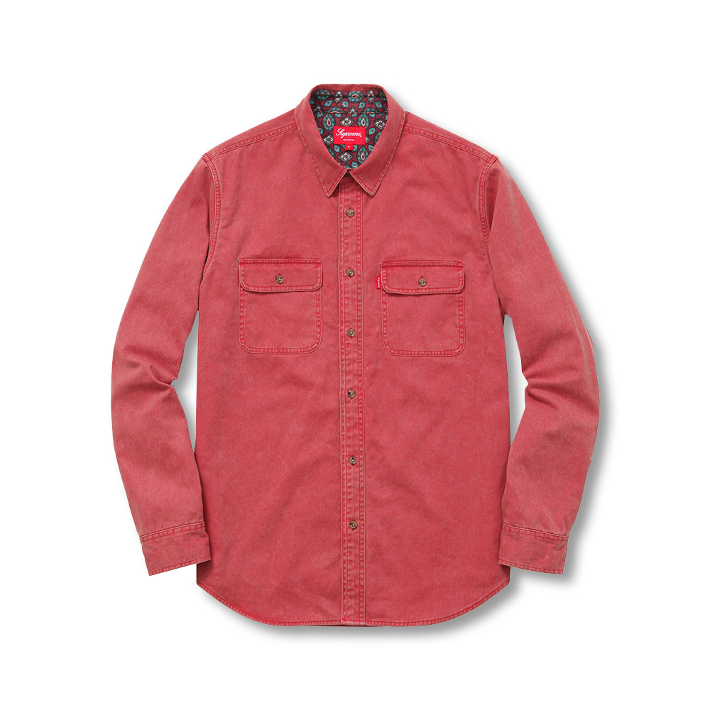 Supreme Flannel Lined Twill Shirt