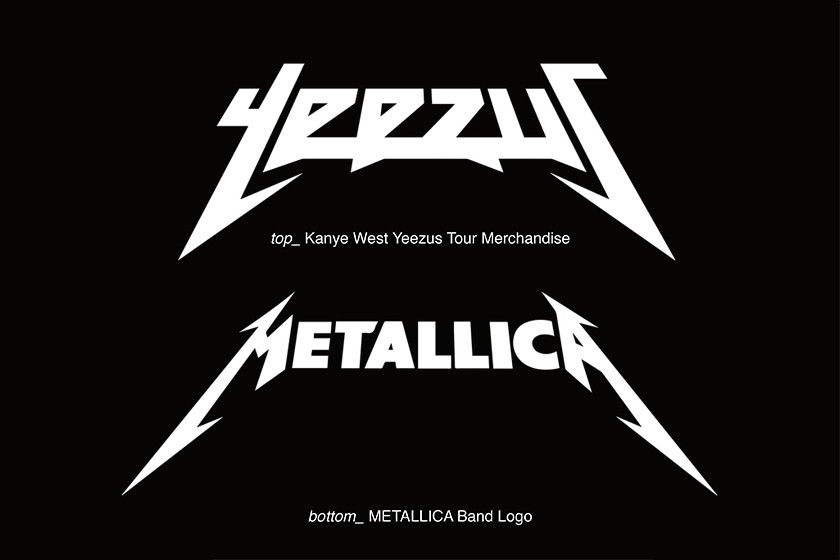 From Yeezus To Purpose Streetwear S Abuse Of Heavy Metal Fonts