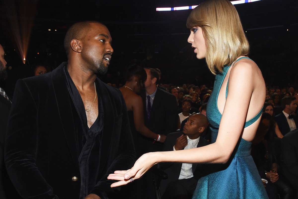 Kanye West, Taylor Swift, Famous, wax figure