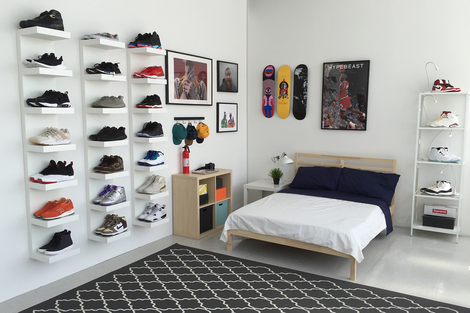 IKEA and HYPEBEAST Design the Ideal Sneakerhead Bedroom | HYPEBEAST