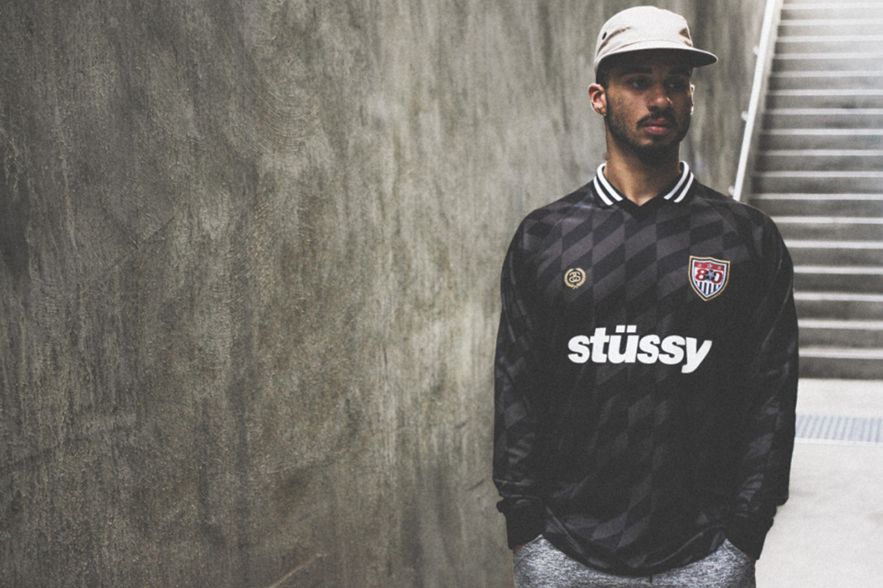 8fb7f746844 Football cool gets a makeover from a brand that knows how to own it. STÜSSY,  no doubt taking inspiration from '90s football style, showcases just how ...