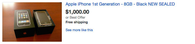 iPhone 7 sells for less than the iPhone 2G on eBay prices smartphones apple