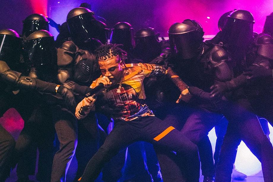 Kanye West Pusha T Desiigner Travis Scott Yeezys Onstage