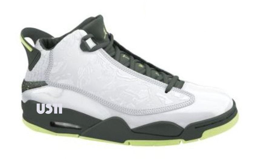 Jordan Dub Zero Returns black grey white green air jordan brand