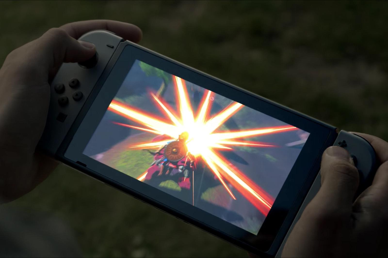 Nintendo Switch Console Mario Zelda Nvidia Joy Con Controllers
