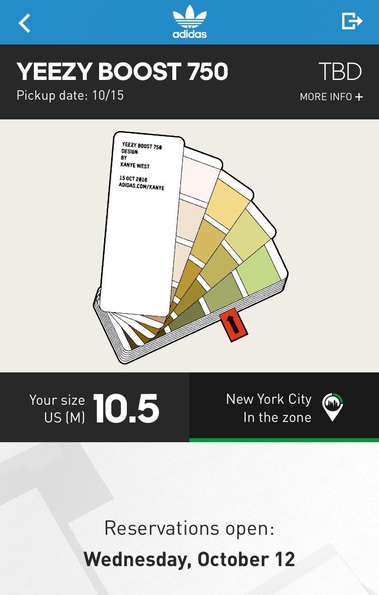 Chocolate adidas Yeezy 750 Boost Confirmed App