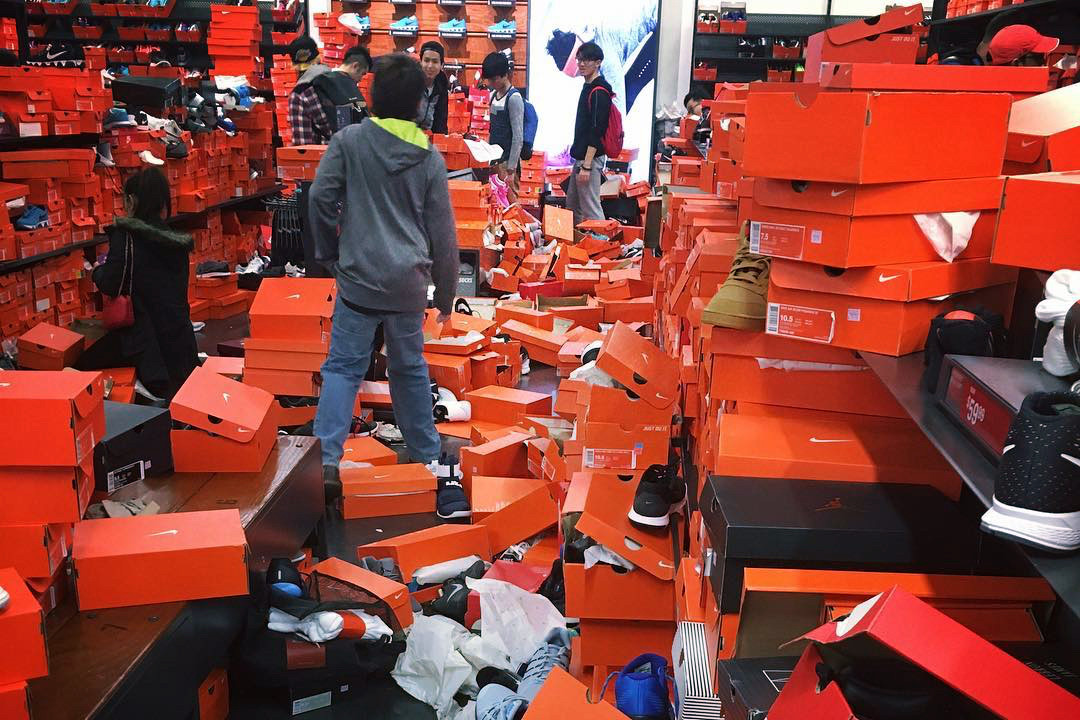 A Nike Outlet Was Trashed by Shoppers