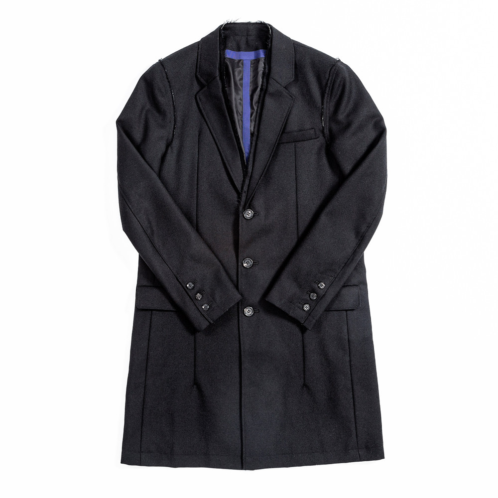 JohnUNDERCOVER Raw Edge Wool Coat