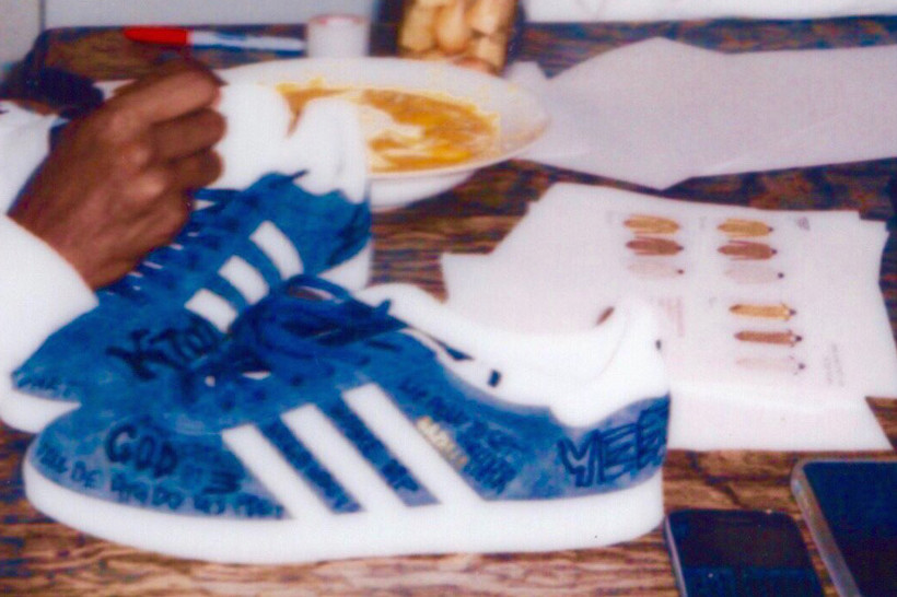 Kanye West Custom Kim adidas Gazelles
