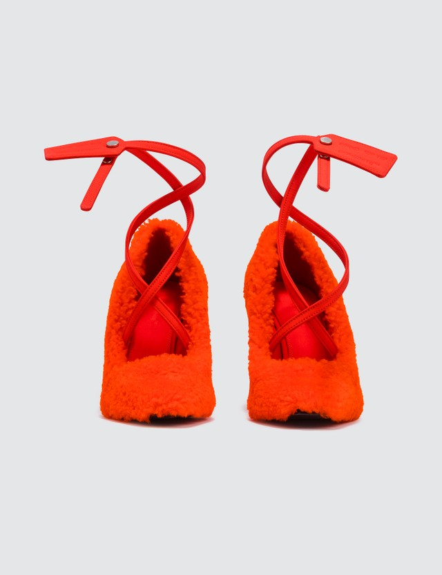 Off-White Off-White Ziptie Pump Orange No Color Women