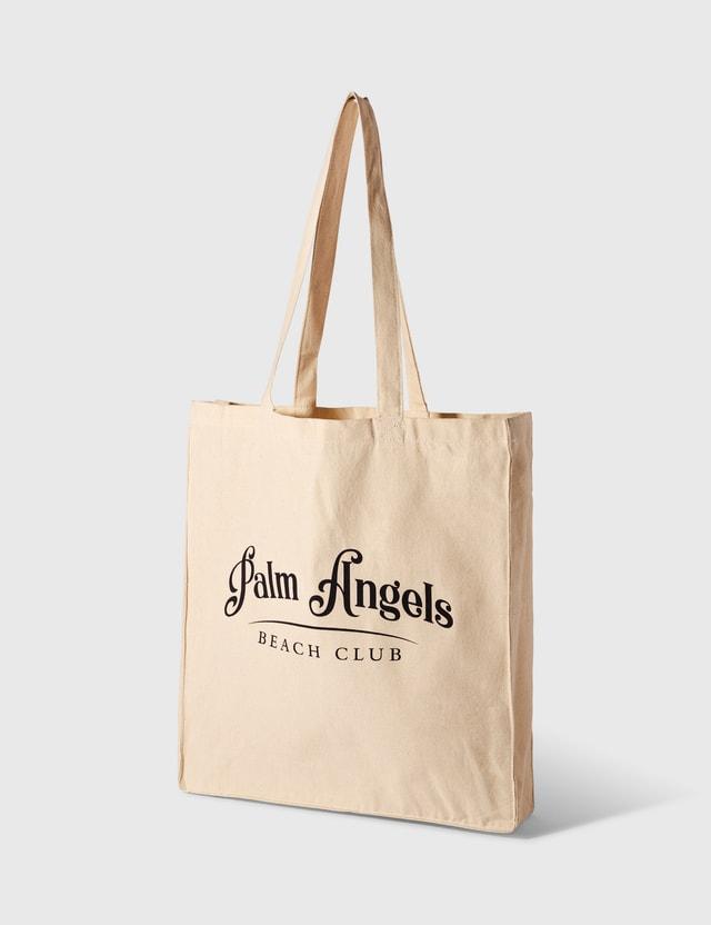Palm Angels Beach Club Shopper Off White Dark Blue Women