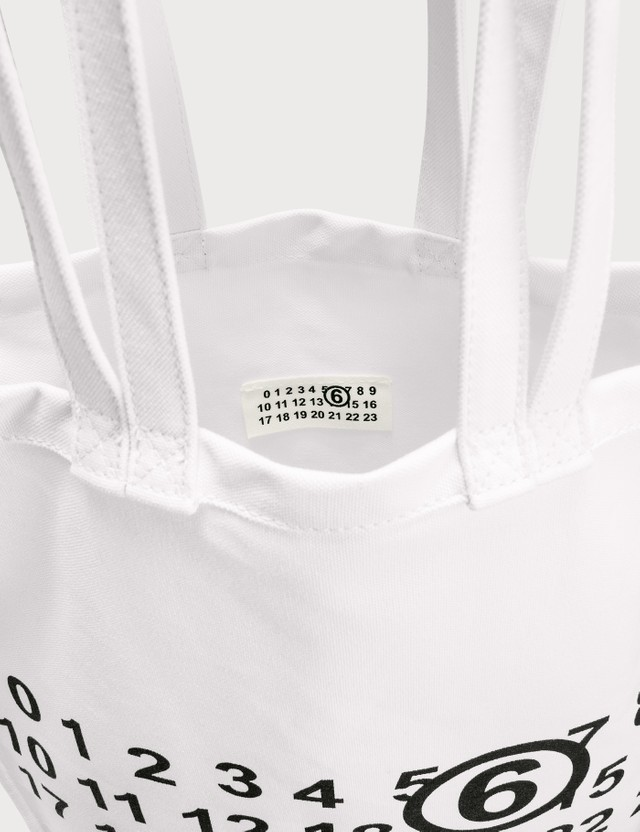 MM6 Maison Margiela Multi Handle Logo Tote Bag