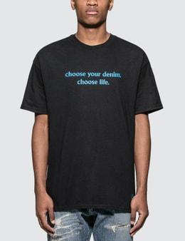 "Denim By Vanquish & Fragment ""Choose Life"" Slogan Print T-shirt"