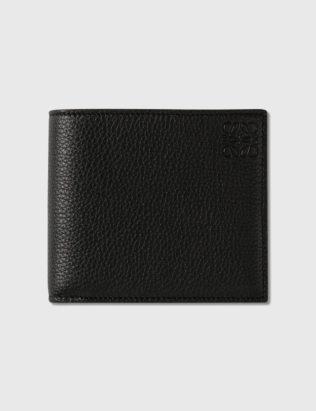 Loewe 그레인 가죽 바이폴드 지갑