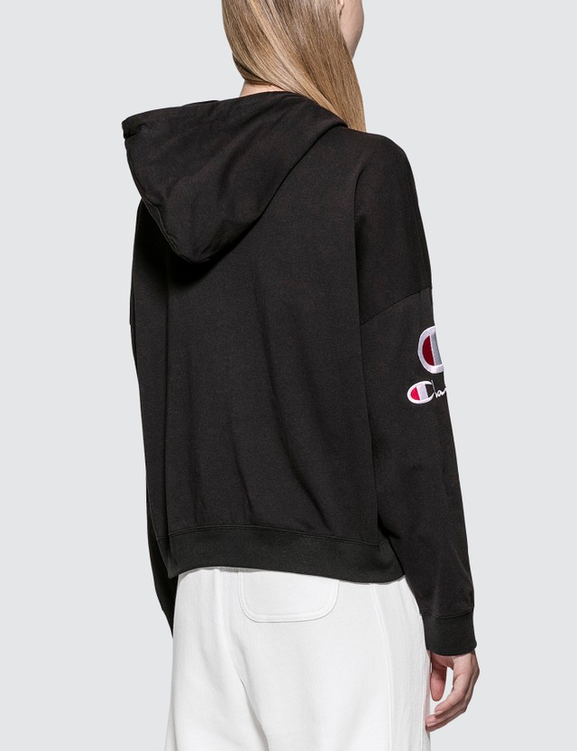 Champion Reverse Weave Sleeve Logo Hoodie