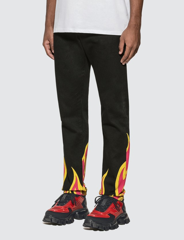 MSGM Flame Printed Jeans