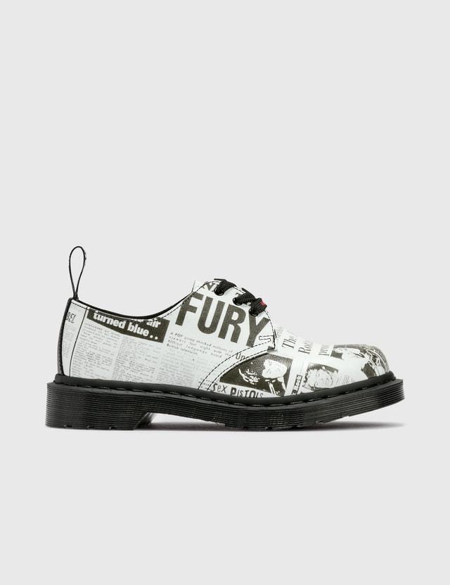Dr. Martens 1461 Sex Pistols Leather Shoes White Backhand Straw Grain 1461 Sxp Women